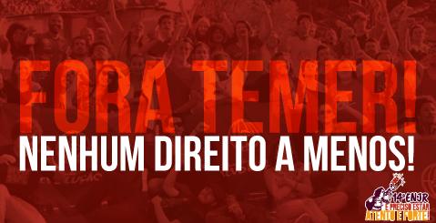 """14º Encontro Nacional da JR reafirma: """"Fora Temer! Nenhum direito a menos!"""""""