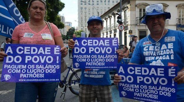 Não à privatização da CEDAE, não à política golpista!