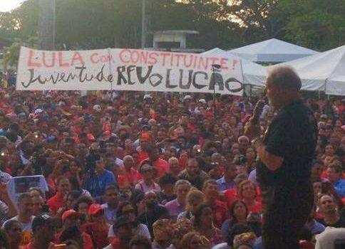 Eleição sem Lula é Fraude! Lula presidente com constituinte pra mudar!
