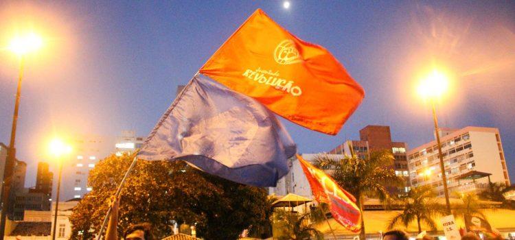 Em ato unificado, estudantes e trabalhadores mandam recado ao prefeito de Florianópolis: Gean, esquece! Não vai ter O.S.!