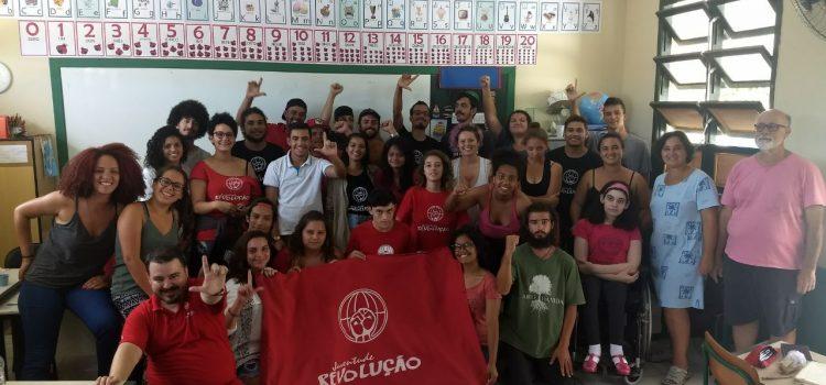 Após a caravana Lula em SC, JR realiza formação sobre Constituinte junto com jovens do MST, JPT e movimento por moradia!