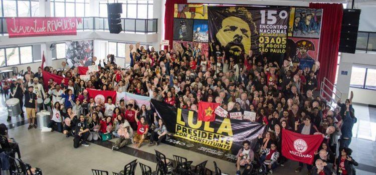 Do 15º Encontro Nacional da Juventude Revolução ao dia 15/08: a juventude quer Lula Presidente!