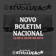 Boletim nacional da JR, 16 de setembro a 30 de setembro de 2018