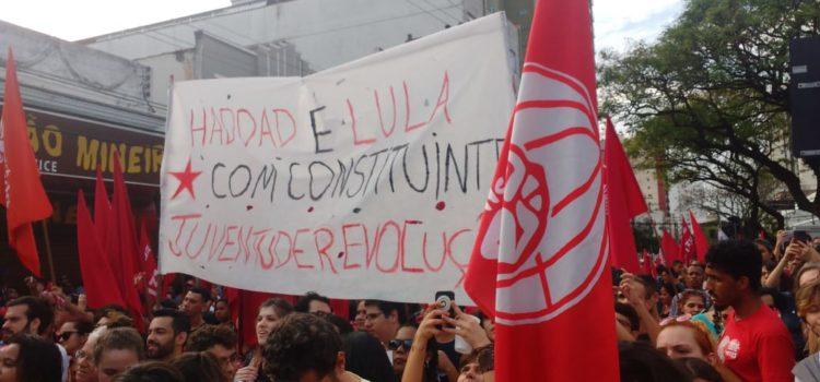 A juventude mineira quer Dilma 133! É Haddad com constituinte 13!