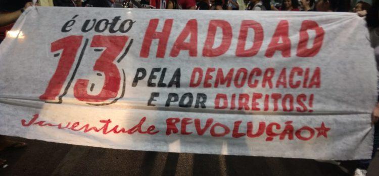 Em Arapiraca-AL a juventude vai às ruas por Haddad presidente