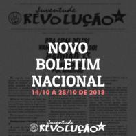 Boletim nacional da JR, 14 de outubro a 28 de outubro de 2018