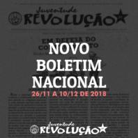 Boletim nacional da JR, 26 de novembro a 10 de dezembro de 2018