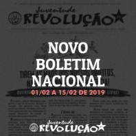 Boletim nacional da JR, 01 de fevereiro a 15 de fevereiro de 2019