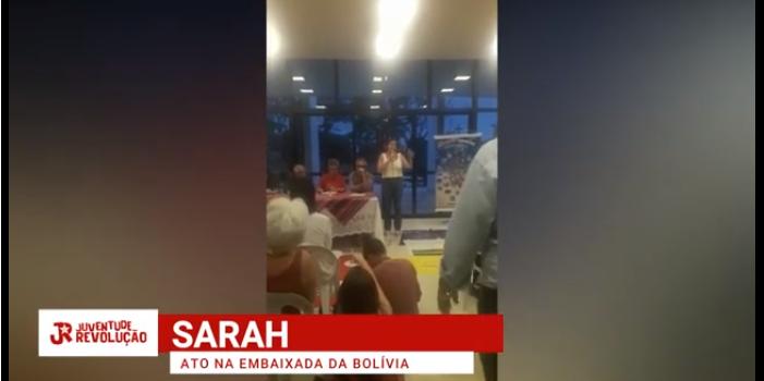 [VÍDEO] Ato na Embaixada da #Bolívia contra o GOLPE de Estado