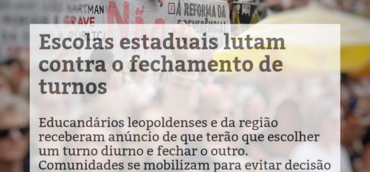Nota da JRdoPT sobre o fechamento de turnos nas escolas do Rio Grande do Sul