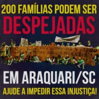 Nota de repúdio a ação de despejo contra a ocupação Jardim das Oliveiras