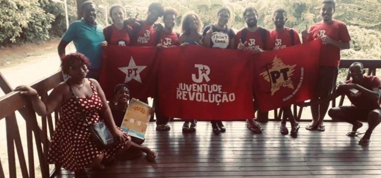 Doc sobre a uberização na Formação de Verão da JRdoPT em Salvador/BA